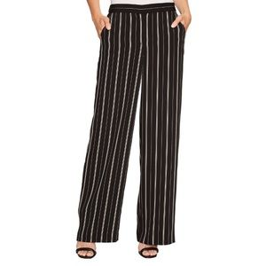 NWT Vince Camuto Stripe Pull-On Pants - Rich Black